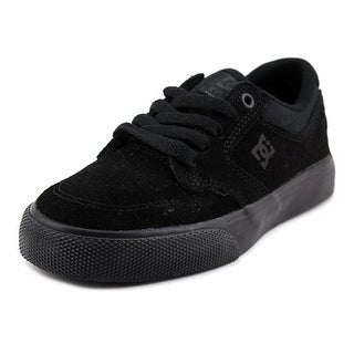 DC Shoes Nyjah Vulc Youth Round Toe Suede Black Sneakers