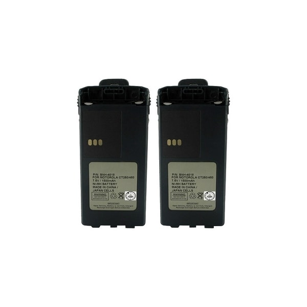 Replacement Battery 1900mAh For Motorola PMNN4081 / PMNN4082 / CP1300 Models 2 Pack
