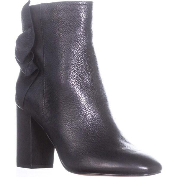 Avec Les Filles Remi Sinched Ankle Boots, Black Lamba - 10 us