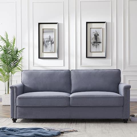 Living Room Chair,Modern SofaGrey and Brown