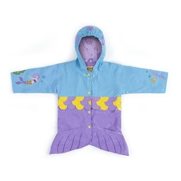 3e8d79262 Kidorable Little Girls Aqua Mermaid Pockets Scales Hooded Rain Coat 2T-6X