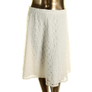 Calvin Klein Womens Plus Lace Knee-Length A-Line Skirt - 20W