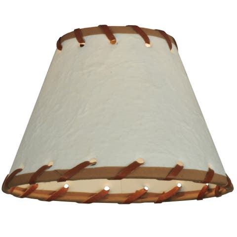 6.25 In. Wide X 4.25 In. High Parchment & Rawhide Shade