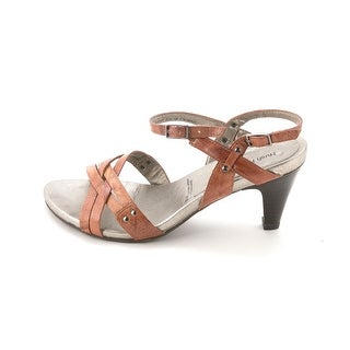 Hush Puppies Womens KRIZIA Leather Open Toe Casual Ankle Strap