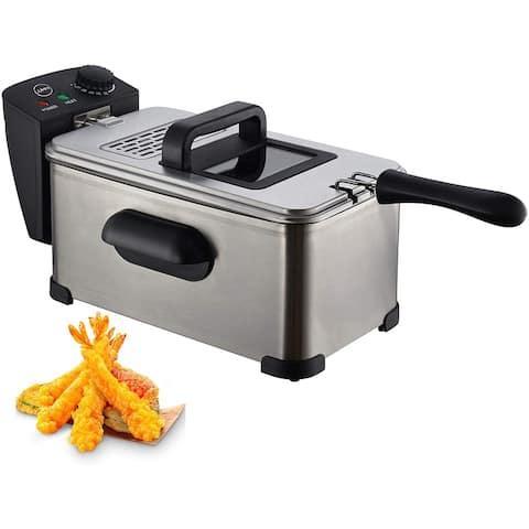 Lumme Deep Fryer with Basket - Silver