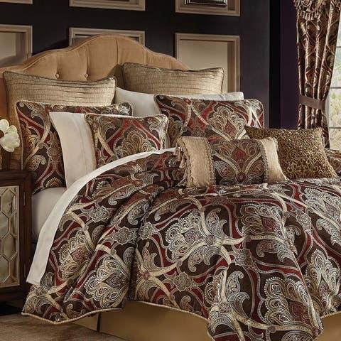 Gracewood Hollow Ronyoung 4-piece Red/Brown Jacquard Comforter Set