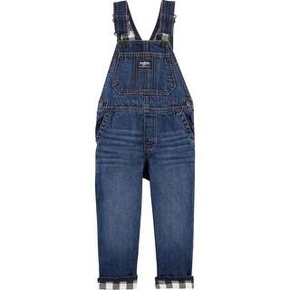 OshKosh B'gosh Little Boys' Flannel-Lined Overalls