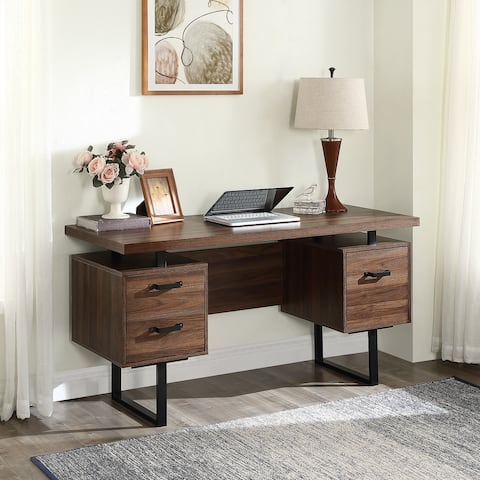 Nestfair Home Office Computer Desk with Drawers