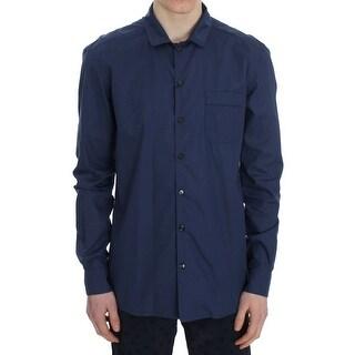 Dolce & Gabbana Dolce & Gabbana Blue Polka Cotton Pajama Lounge Shirt