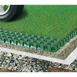 Permeable Grass Paver for Parking lot, Driveways - Set of 4 - 10.76 Sf