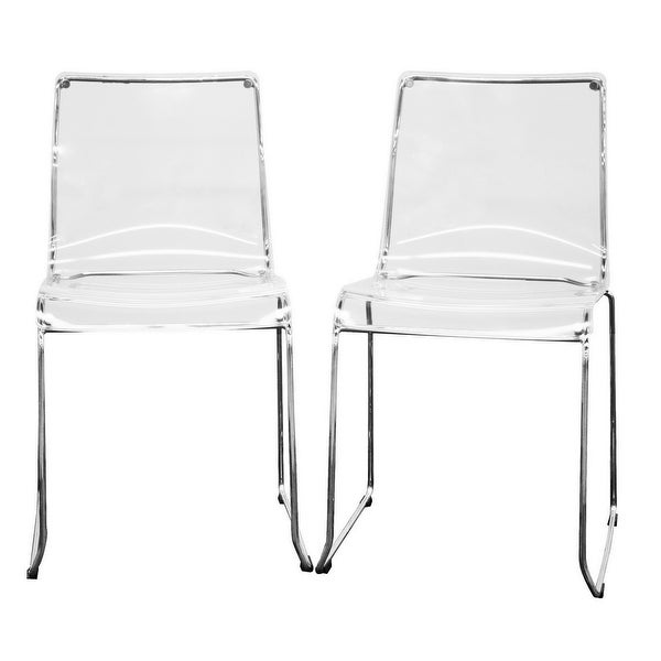 Lino Acrylic Dining Chair Clear - 2pcs. Opens flyout.