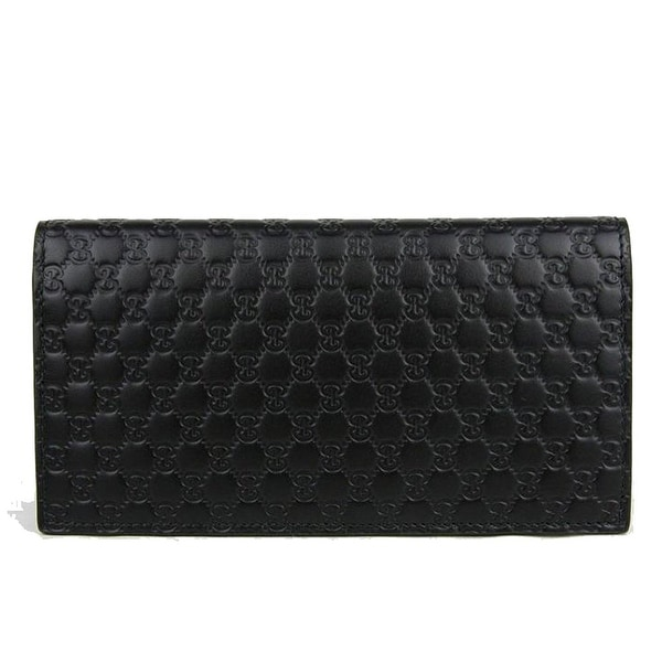 4cb39da23e36 Shop Gucci Microguccissima Black Leather Long Flap Wallet - Free ...
