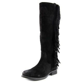Steven Steve Madden Daltton Women  Round Toe Suede Black Knee High Boot