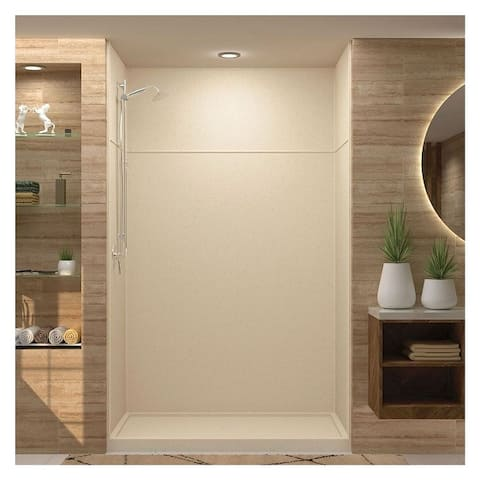 """Transolid Studio 60-in x 96-in Alcove Shower Kit with Extension - 60"""" x 36"""" x 96"""" - 60"""" x 36"""" x 96"""""""