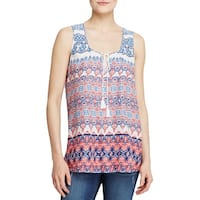 Beach Lunch Lounge Womens Sophie Tank Top Printed Sleeveless