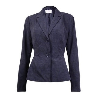 Link to Laundry by Shelli Segal Women's Solid Notched Lapel Peplum Blazer - Charcoal Similar Items in Suits & Suit Separates