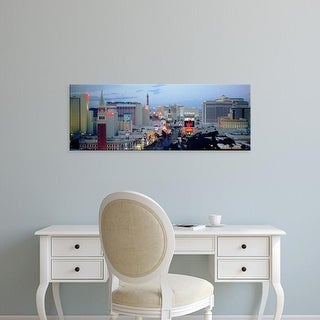 Easy Art Prints Panoramic Images's 'View of buildings in a city, The Strip, Las Vegas, Nevada' Premium Canvas Art