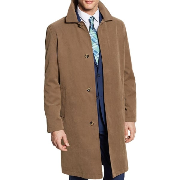 129de776ea22 Shop London Fog Mens Durham Raincoat Canvas Water Resistant - Free Shipping  Today - Overstock - 18388778