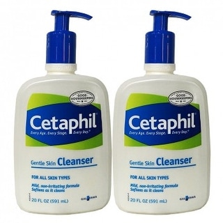 Cetaphil Gentle Skin Cleanser, For All Skin Types, 20 Ounces, 2-Pack - White