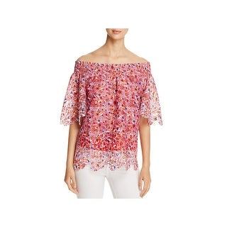 T Tahari Womens Cecilia Blouse Lace Off-The-Shoulder (3 options available)