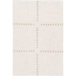 Surya CVS2000-23 Canvas 2' x 3' Rectangle Cotton Hand Crafted Contemporary Area - Beige