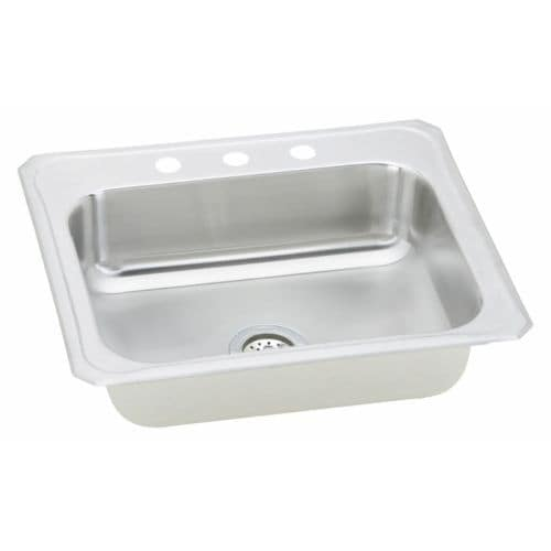 elkay cr2522 celebrity 25   single basin 20 gauge stainless steel kitchen sink for drop in installations with soundguard   free shipping today     elkay cr2522 celebrity 25   single basin 20 gauge stainless steel      rh   overstock com