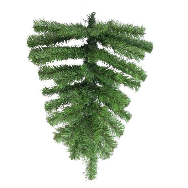 "22"" Pine Teardrop Artificial Christmas swag - Unlit - green"