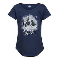 Horse Power  - Case Ih Youth Girl Short Sleeve Curved Hem Tee