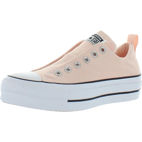 Converse Chuck Taylor All Star Lift Slip Canvas Low Top Fashion Sneaker - Washed Coral/White/Black