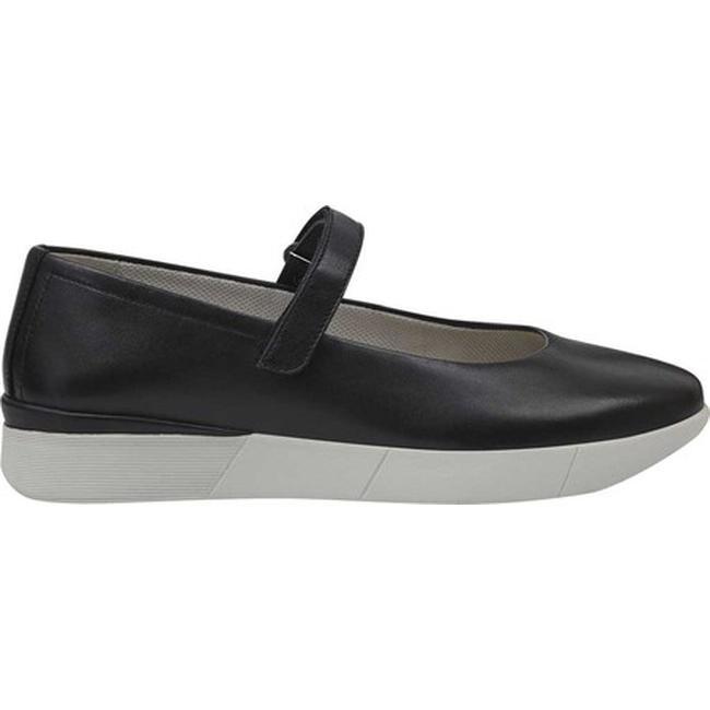 Cacia Mary Jane Black Leather