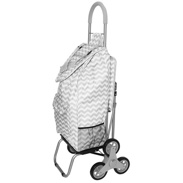 Trolley Dolly Stair Climber With Seat Rolling Grocery Carrier