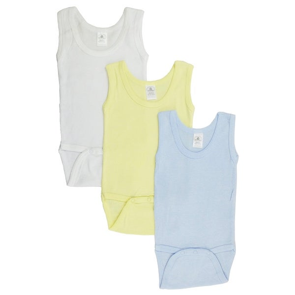 Bambini Boy's Printed Rib Knit Variety Long Sleeve Bodysuit 6-Pack
