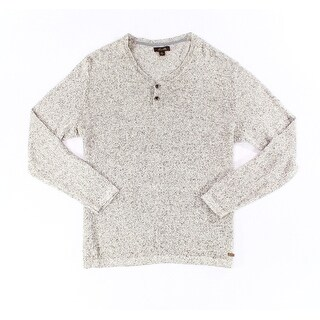 Tasso Elba NEW Khaki Beige Mens Size Medium M Marled Henley Sweater
