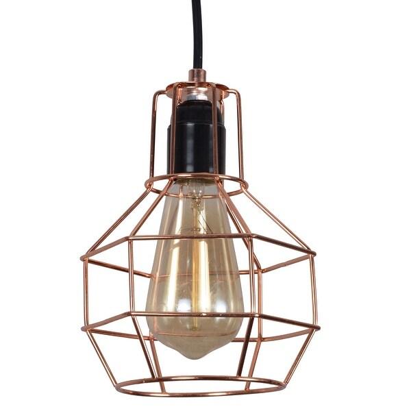 Wire Cage Vintage Pendant Light Fixture