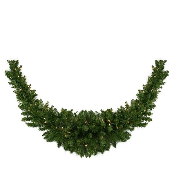 """60"""" Pre-Lit Eastern Pine Artificial Christmas Swag - Clear Lights - green"""