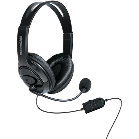 Dreamgear dgxb1-6617 wired headset with microphone for xbox one (black) - BLACK