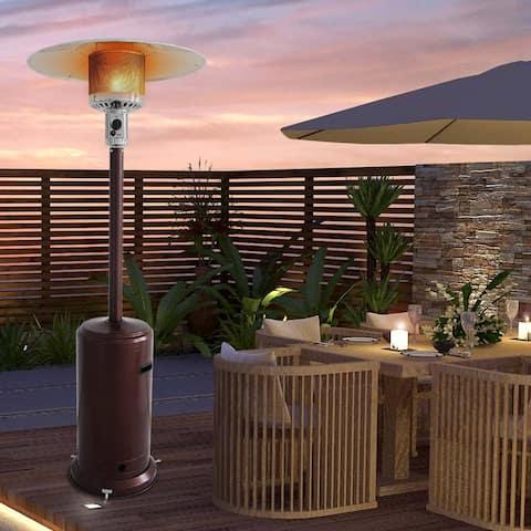 ZOKOP 46000BTU Outdoor Courtyard Gas Umbrella Heater Bronze