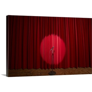 """""""Spotlight on microphone stand on stage"""" Canvas Wall Art"""
