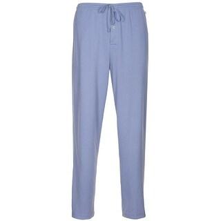 Karen Neuburger Sleepwear Mens Pajama Pants Blue Solid Large L