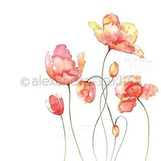 "Orange Tulips - Alexandra Renke Flowers Paper 12""X12"" (25/Pack)"