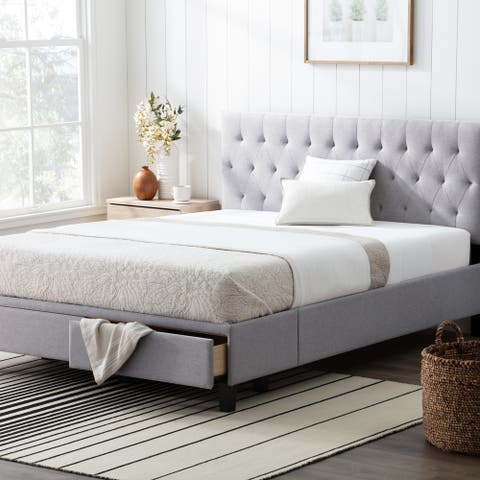 Brookside Anna Upholstered Storage Bed with Drawers