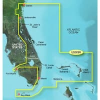 Garmin 010-C0710-00 Bluechart g2 vision VUS009R,Jacksonville to Key West