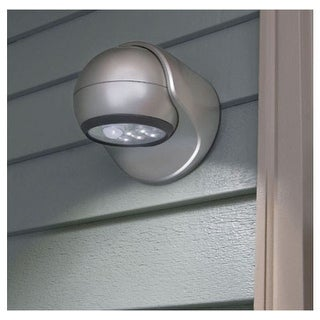 Fulcrum Products 20031-101 Motion Sensor LED Porch Light, Silver