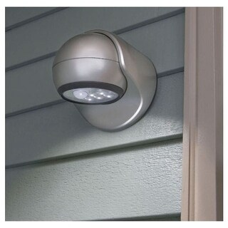 Fulcrum Products 20031-101 Motion Sensor LED Porch Light, Silver
