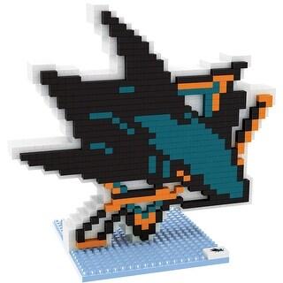 San Jose Sharks 3D NHL BRXLZ Bricks Puzzle Team Logo
