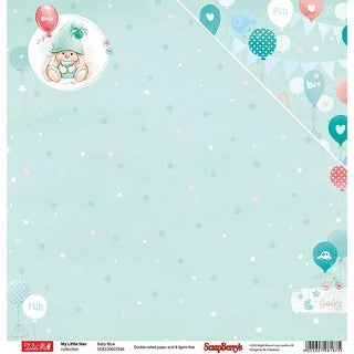 "Scrapberry's My Little Star Double-Sided Cardstock 12""X12""-Baby Blue"