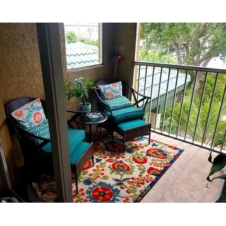 Copper Grove Alyssum Multicolor Indoor/Outdoor Rug