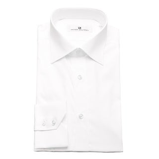Pierre Balmain Men Slim Fit Cotton Dress Shirt Solid White (3 options available)
