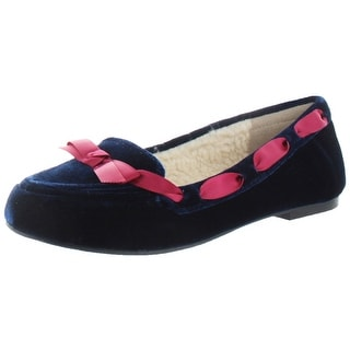 Restricted Chuckle Velvet Women's Sherpa Slippers Shoes Cozy Loafers