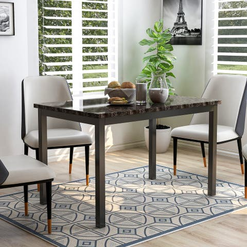 Furniture of America Rath Transitional Black 48-inch Dining Table